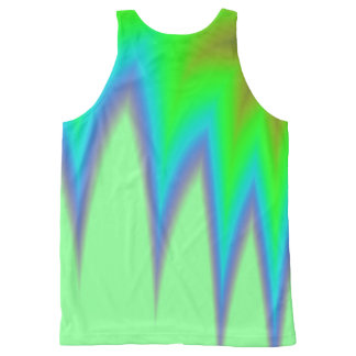 Abstract Green Grass All-Over-Print Tank Top