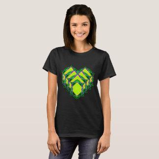 Abstract green heart T-Shirt
