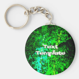 Abstract Green Keychain