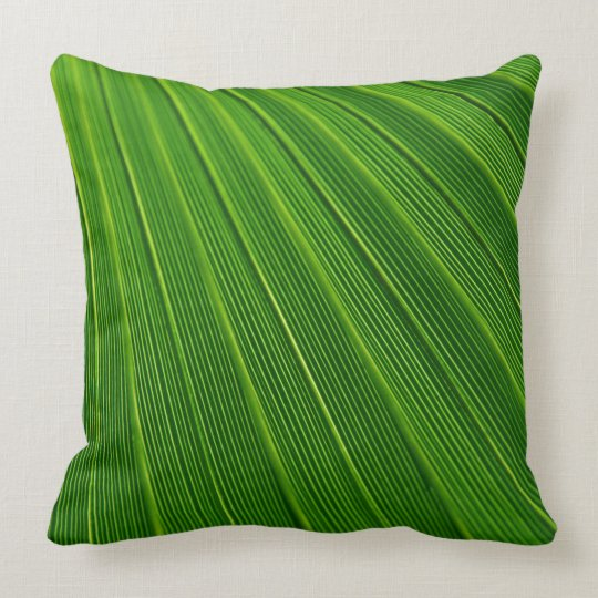 Abstract Green Leaf Pillow