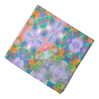 Abstract Green Light Blue And Pink Background Bandana