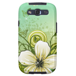Abstract Green Modern Floral Design Samsung Galaxy SIII Case