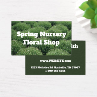 Abstract Green Mums Business Card
