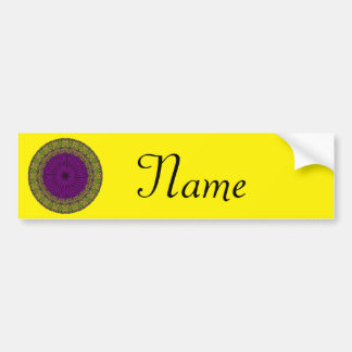 Abstract Green, Purple Red Hued Circle Design Bumper Sticker