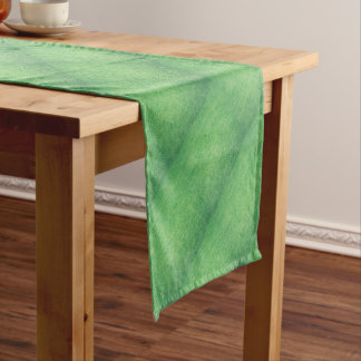 Abstract green short table runner