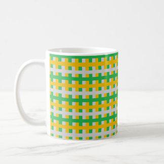Abstract Green, Silver and Gold Coffee Mug