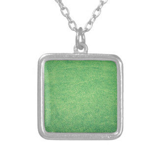 Abstract green silver plated necklace