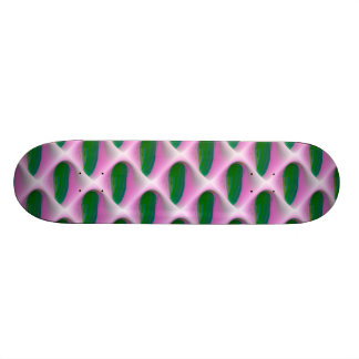 abstract green skate deck