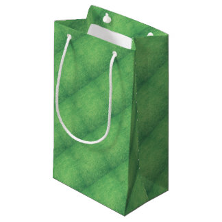 Abstract green small gift bag