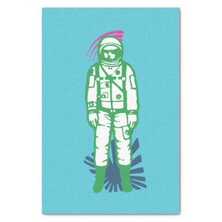 Abstract Green Spaceman  Tissue Paper