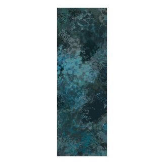 Abstract Green Splatter Painting II Poster