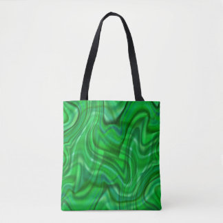 Abstract Green Swirl Design Tote Bag