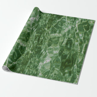Abstract Green Water Gift Wrap