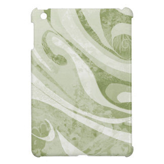 Abstract Green Waves Design iPad Mini Cover