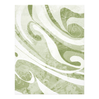 Abstract Green Waves Design Letterhead