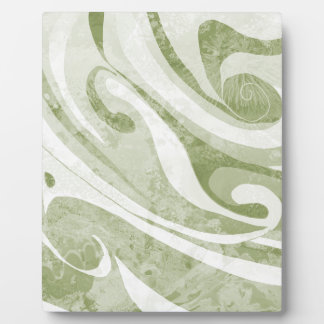Abstract Green Waves Design Plaque