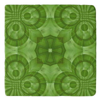 Abstract green Wood Pattern Trivet