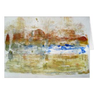 Abstract Greeting Card - 'Beach'