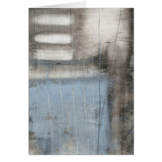 Abstract Grey & Blue Painting Card