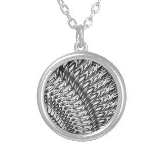 Abstract-grey Silver Plated Necklace