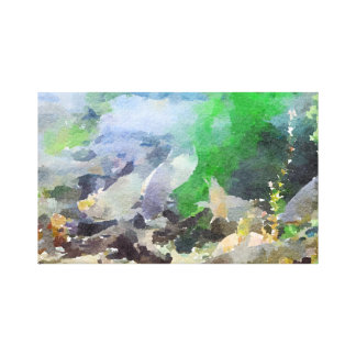 Abstract Grey Tropical Fish Canvas Print