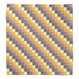 Abstract Grid Color Pattern Bandana