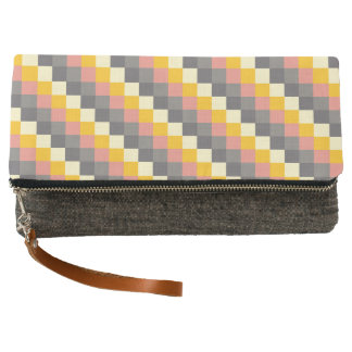 Abstract Grid Color Pattern Clutch