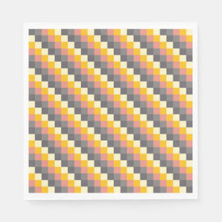 Abstract Grid Color Pattern Disposable Napkin