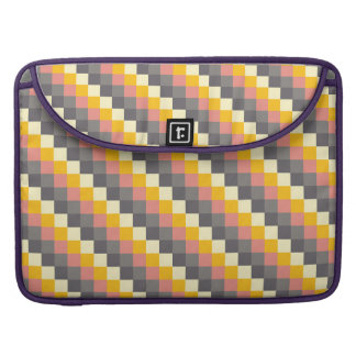 Abstract Grid Color Pattern Sleeve For MacBooks