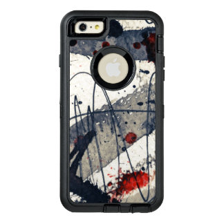 Abstract grunge background, ink texture. OtterBox iPhone 6/6s plus case