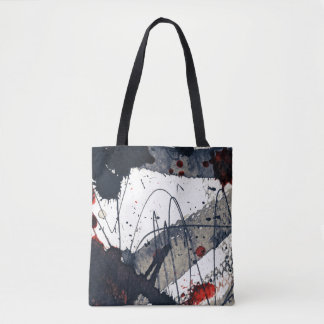 Abstract grunge background, ink texture. tote bag
