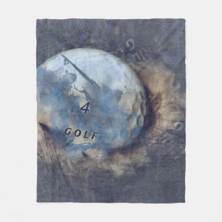 Abstract grunge golf ball fleece blanket