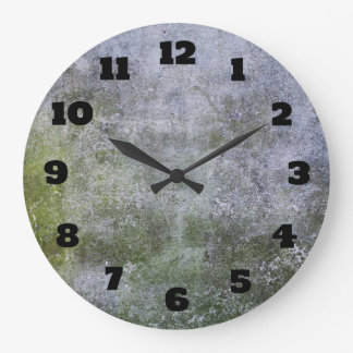 Abstract Grunge Moss Covered Stone Wall Texture Wallclocks