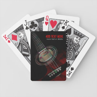 Abstract Grunge Red Guitar Playing Cards