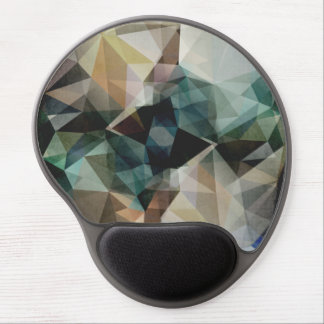Abstract Grunge Triangles Gel Mouse Pad
