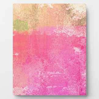 Abstract Grunge Watercolor Pink Plaque