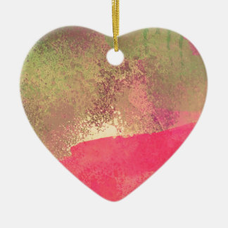 Abstract Grunge Watercolor Print Ceramic Ornament