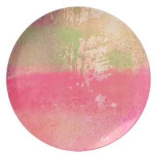 Abstract Grunge Watercolor Print Party Plate