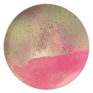 Abstract Grunge Watercolor Print Party Plates
