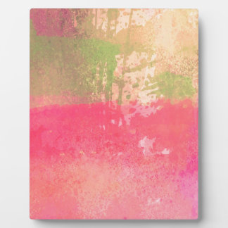 Abstract Grunge Watercolor Print Plaque