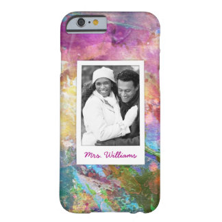 Abstract Grunge Watercolor Texture | Add Photo Barely There iPhone 6 Case