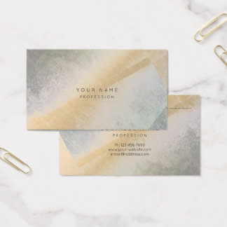 Abstract Grungy Gray Gold Art Minimal Stylist Business Card