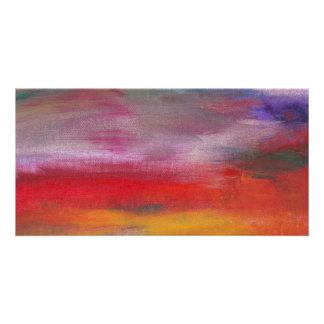 Abstract - Guash & Acrylic - Pleasant Dreams Photo Greeting Card