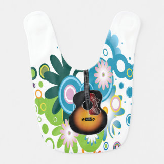 Abstract Guitar Baby Bib