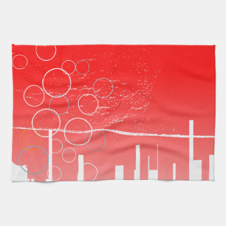 Abstract Guitar City Kitchen Towels