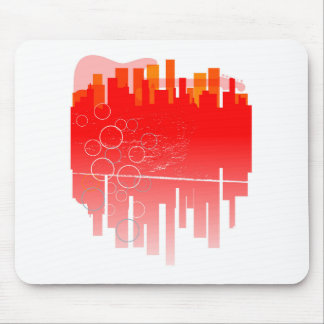 Abstract Guitar City Mouse Pad