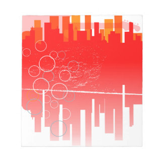 Abstract Guitar City Notepad