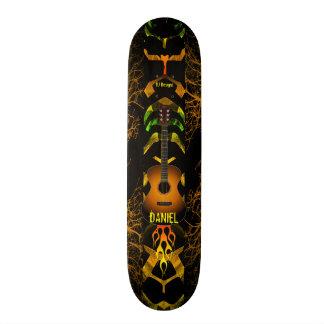 Abstract Guitar Custom Skate Board