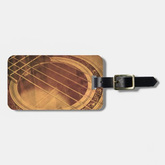 Abstract Guitar Luggage Tag