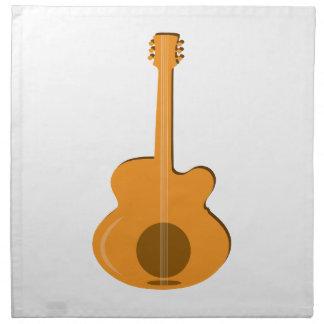 Abstract Guitar Printed Napkin